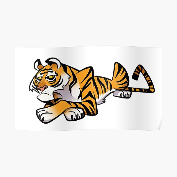Tiger Caricature Poster