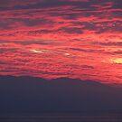 Sunset with Mountains - Puesta del Sol con La Sierra Madre by PtoVallartaMex