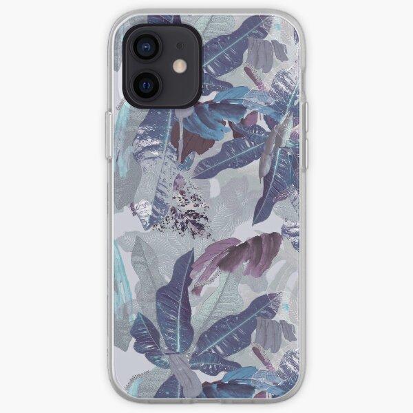 Painterly Leafy Plant Blue iPhone Soft Case