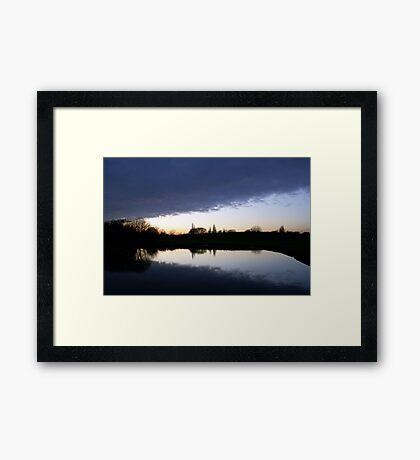 Cloud Over the Lake Framed Print