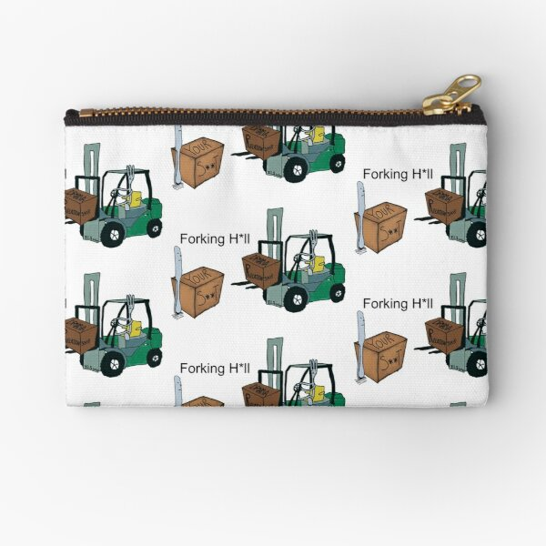 A Fork Forklifting all the Drama in the Relationship  Zipper Pouch