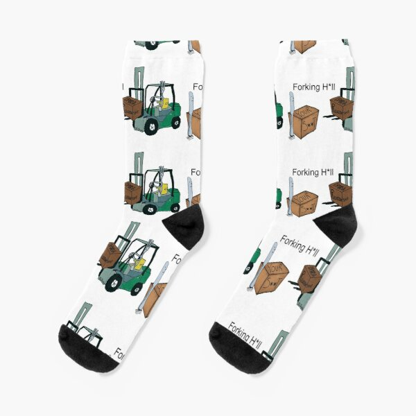 A Fork Forklifting all the Drama in the Relationship  Socks