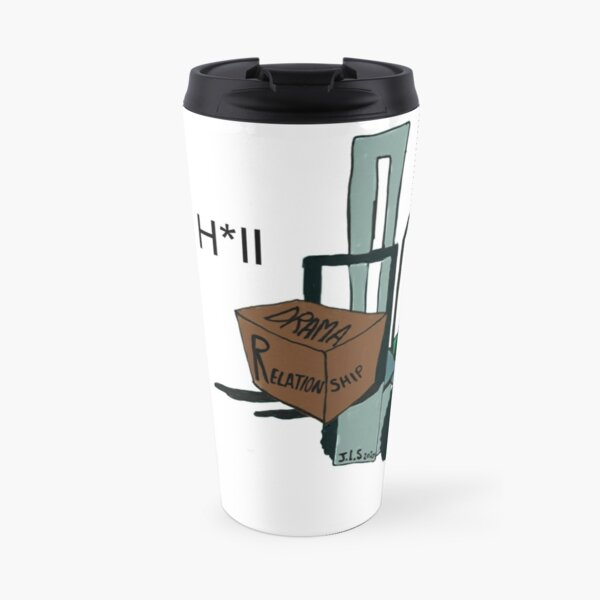 A Fork Forklifting all the Drama in the Relationship  Travel Mug