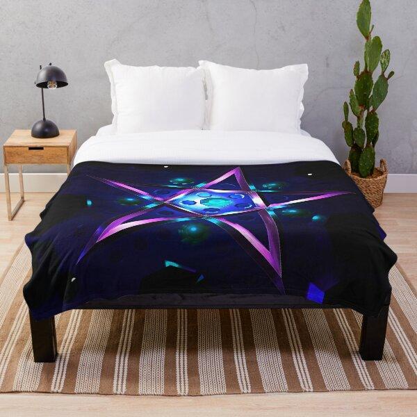 Purple Pentagram Throw Blanket