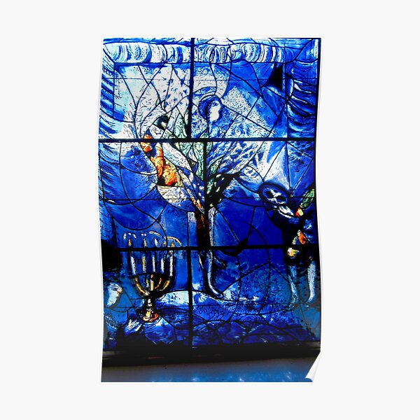 Marc Chagall glass panel Poster