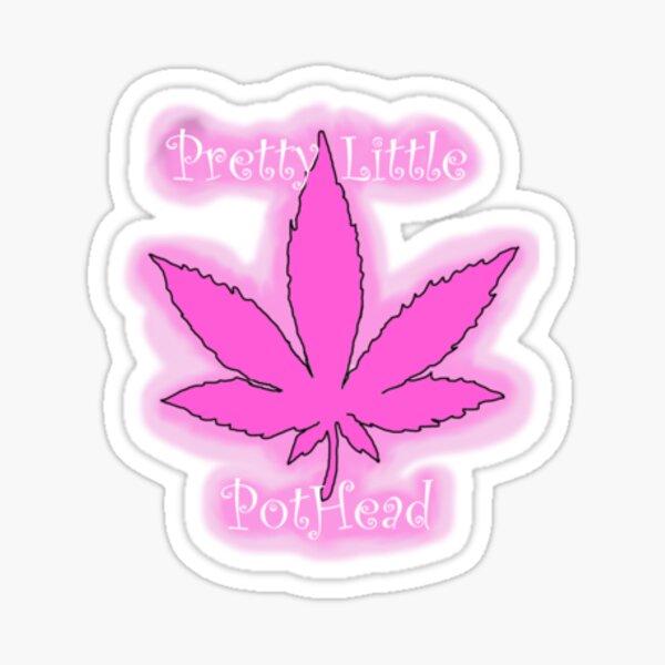 Pretty Little Pothead Bong Sticker Sticker