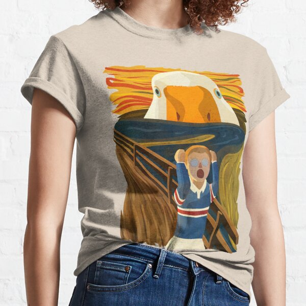 The Honk - Goose - The Scream Famous Painting Parody, Untitled, Meme ,Hjonk, Bonk, Canvas, Comic con Reusable Facemask, knife, Peace Was Never An Option Thematic Gift Classic T-Shirt