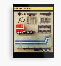 Set Includes Optimus Prime! Metal Print