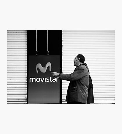 Who wants to be a Movistar ? Photographic Print