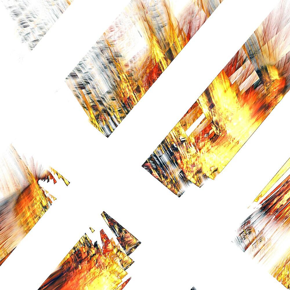 Burning Logs by Benedikt Amrhein