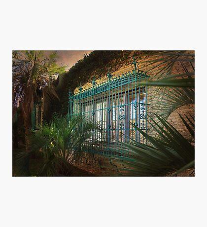 Barred Windows At Historic Atalaya Castle Photographic Print