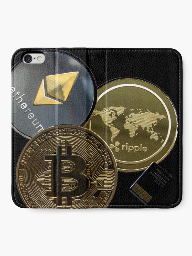 Vista alternativa de Fundas tarjetero para iPhone criptomonedas pendrive