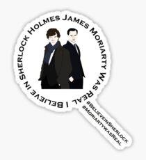 Sherlock & Moriarty Under the Microscope Sticker