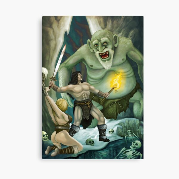 Conan in the Hall of the Mountain King Canvas Print