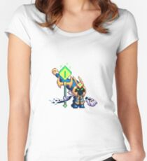 Veigar in Pixel Women's Fitted Scoop T-Shirt