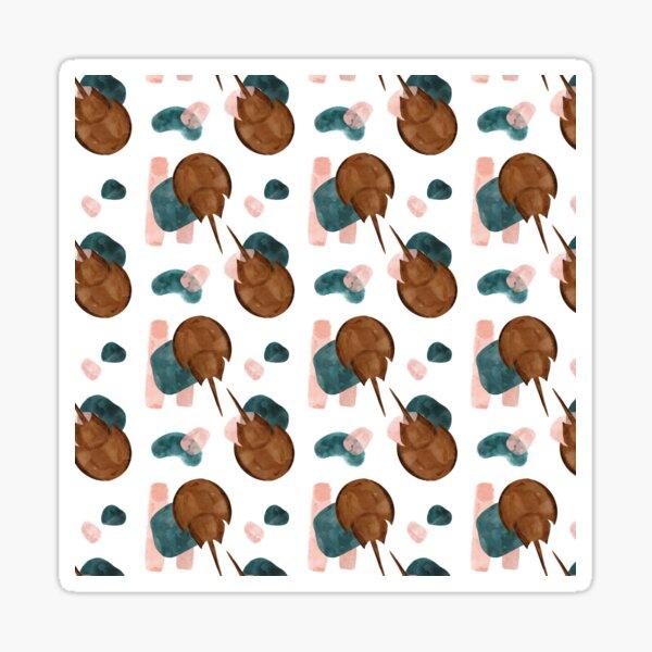 Horseshoe Crab Watercolor Pattern Sticker