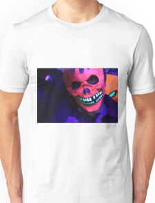 Neon Glowing Mask Notebook Unisex T-Shirt