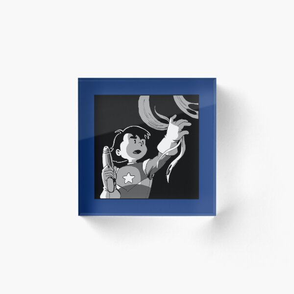 Space Kid dramatic lighting Acrylic Block