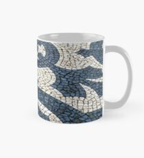 Circles and leaves in black and white cobblestones, Lisbon Mug