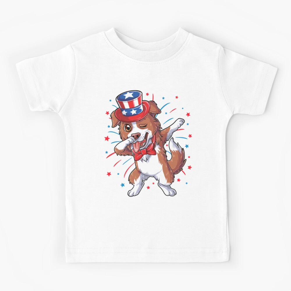 KIDS BOYS GIRLS Border Collie T-Shirt dog lover gift present