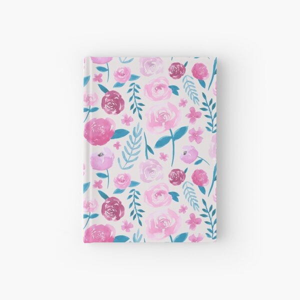 Watercolor Florals - Cream  Hardcover Journal