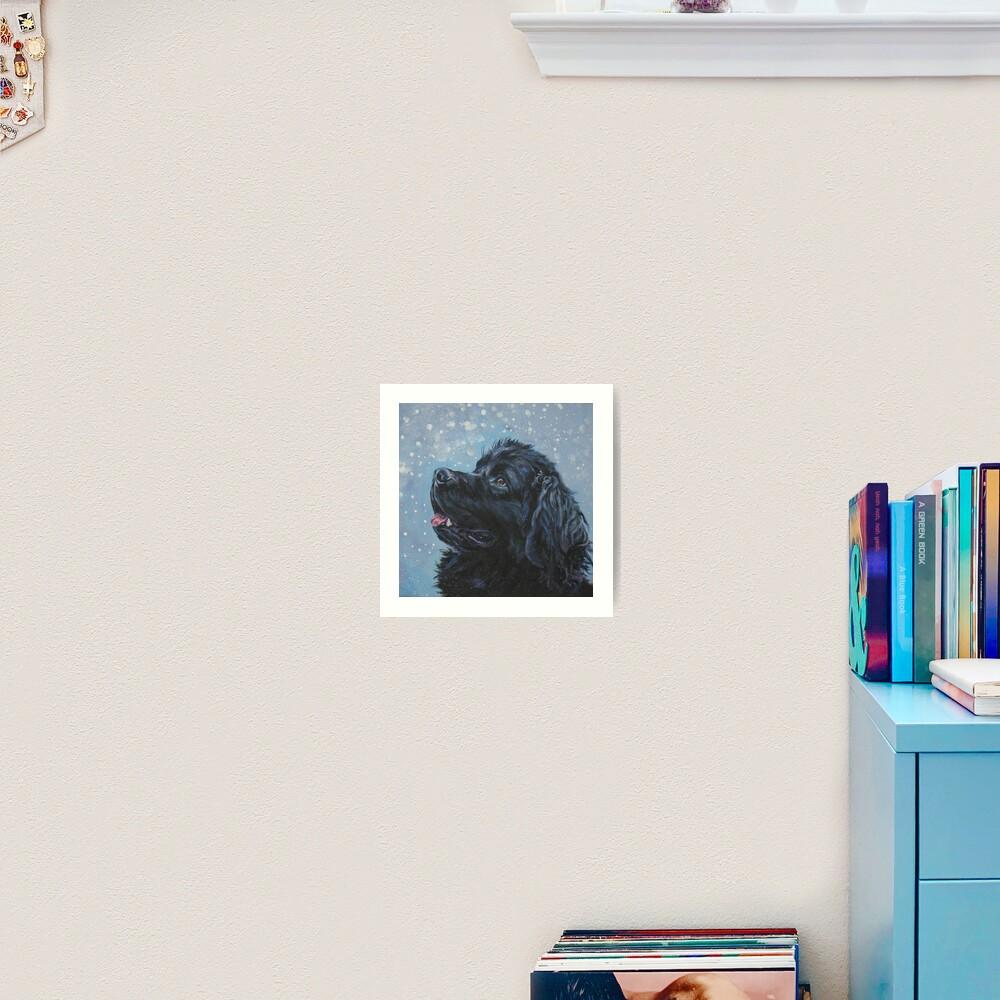 Newfoundland Dog Fine Art Painting Art Print