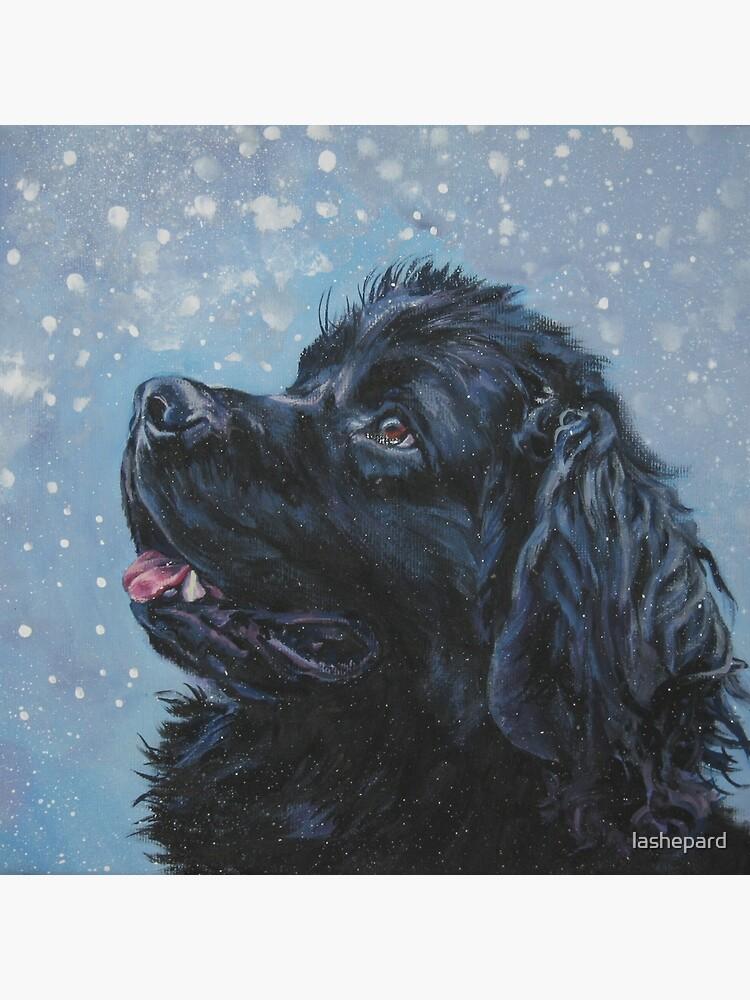 Newfoundland Dog Fine Art Painting by lashepard