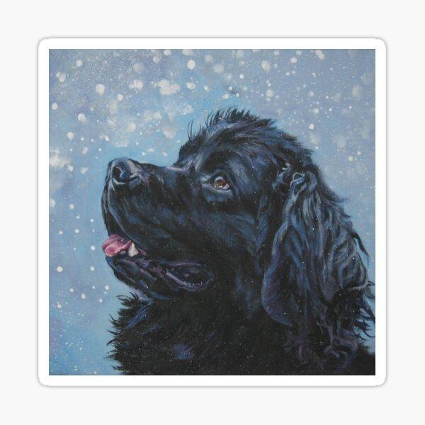 Newfoundland Dog Fine Art Painting Sticker