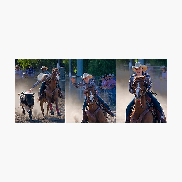 Moruya Rodeo New Years Day 2012 Photographic Print