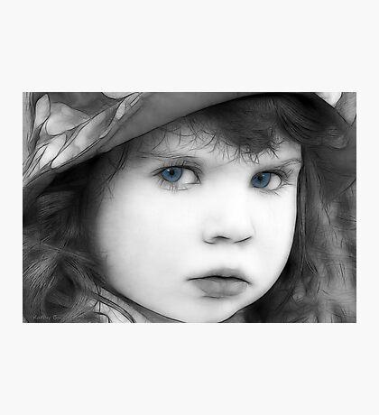 Sweet Little Blue Eyes Photographic Print