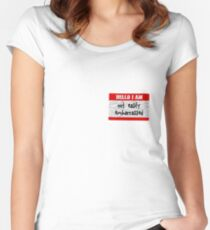 Hello, I am not easily embarrassed Women's Fitted Scoop T-Shirt