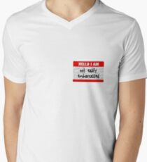 Hello, I am not easily embarrassed V-Neck T-Shirt