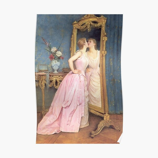 Vanity by Auguste Toulmouche Poster