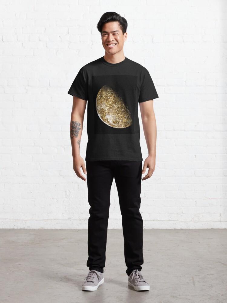Alternate view of Gold Glitter Moon  Classic T-Shirt
