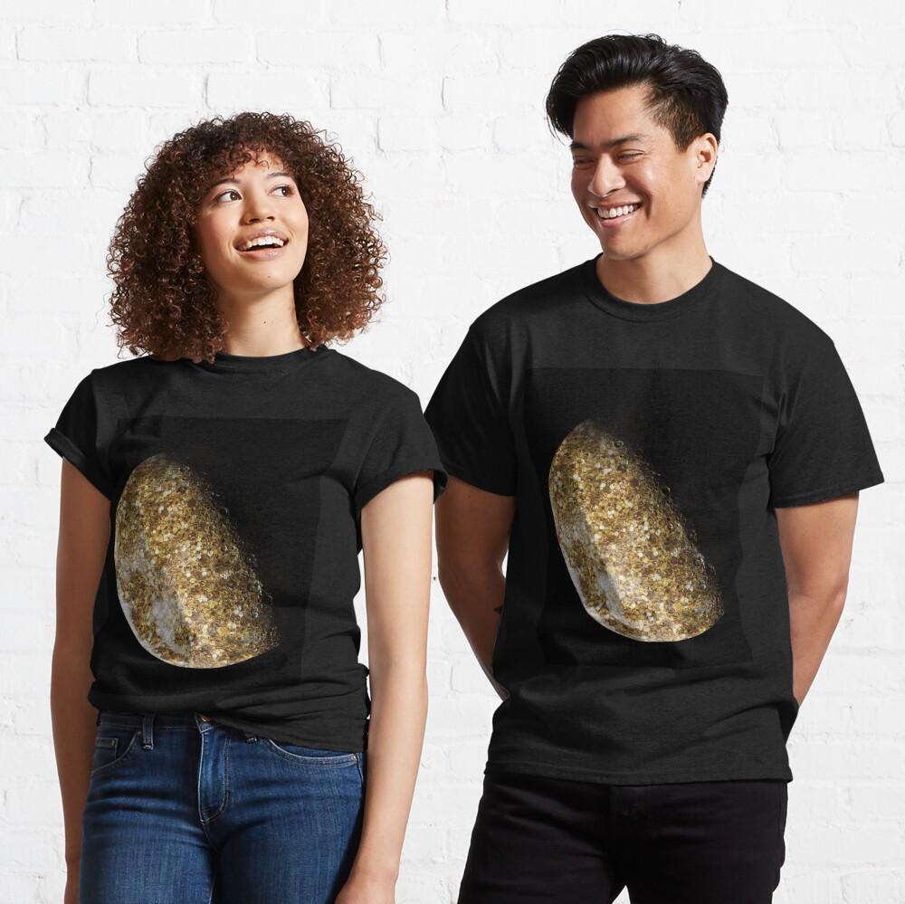 Gold Glitter Moon  Classic T-Shirt