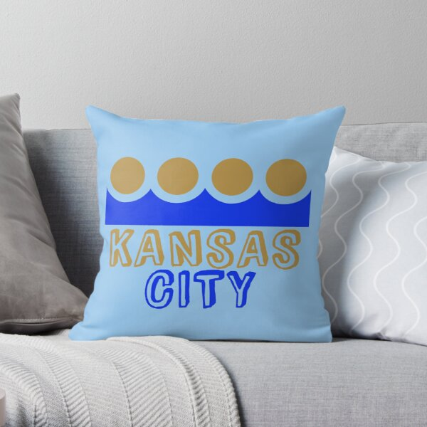 Kansas City Crown Throw Pillow