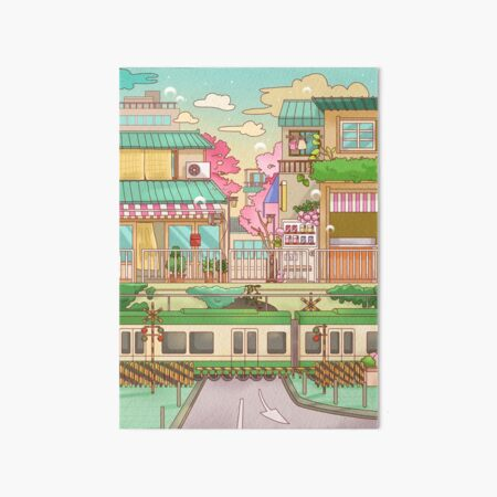 Sakura in Tokyo Art Board Print