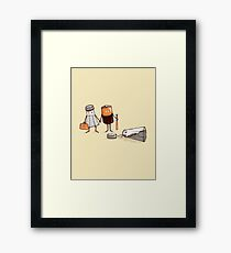 Assault and Battery Love Story | Funny Cute Cartoon Framed Print