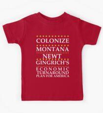 Newt Gingrich - Colonize Montana Kids Clothes