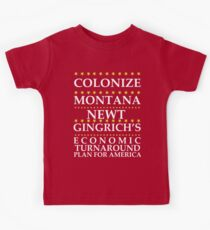 Newt Gingrich - Colonize Montana Kids Tee