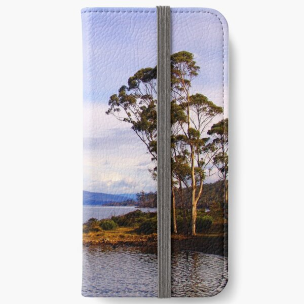 Trees by the coast iPhone Wallet