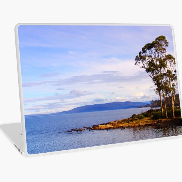 Trees by the coast Laptop Skin