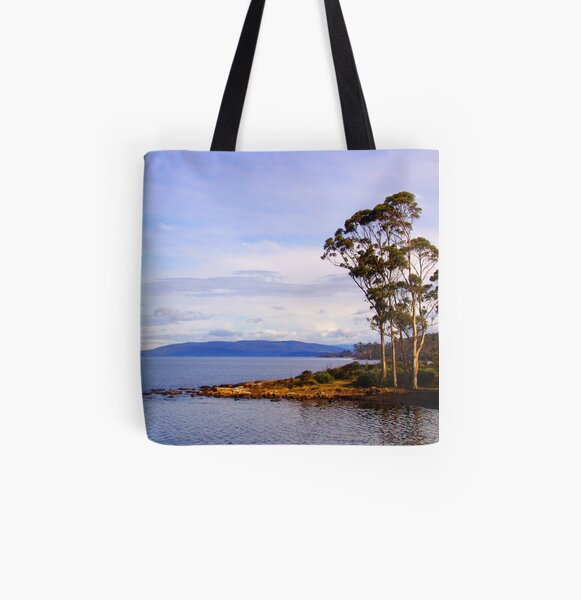 Trees by the coast All Over Print Tote Bag