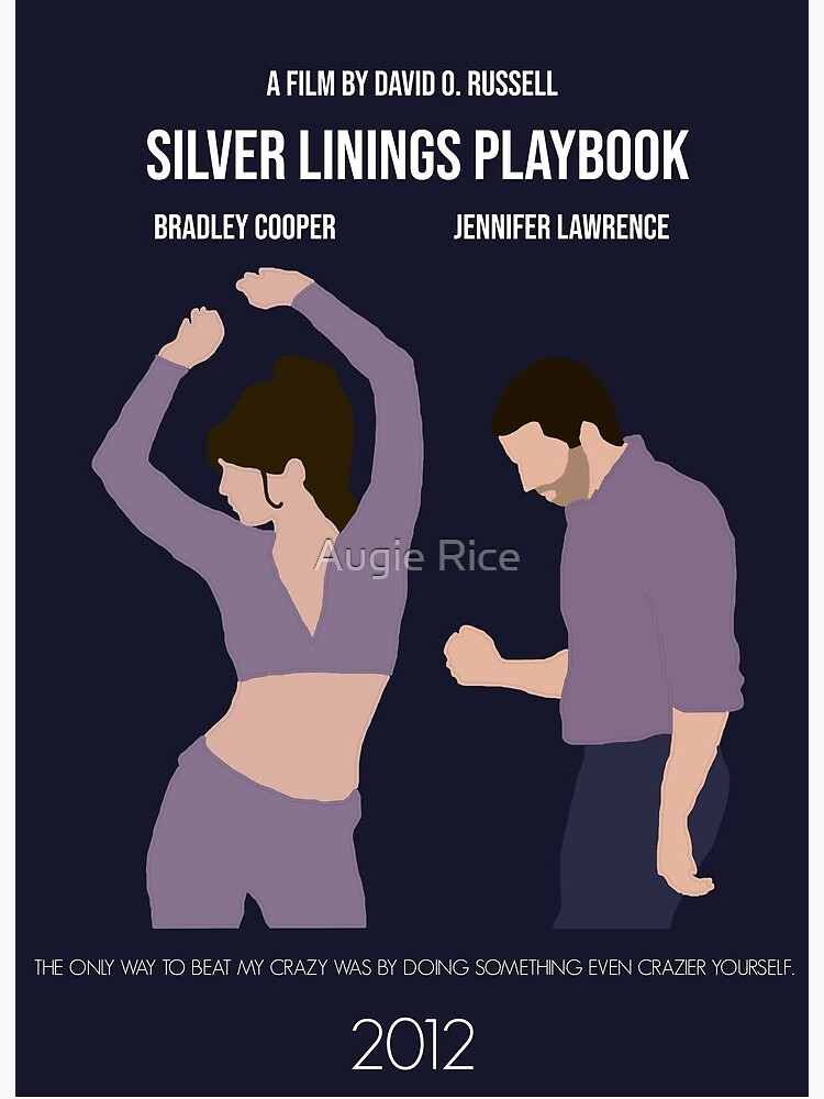 Silver Linings Playbook Minimalist Movie Poster Art Board Print By Augierice Redbubble