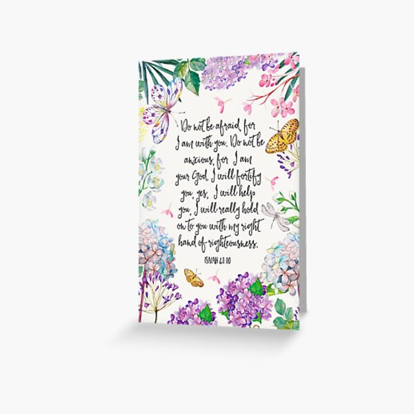 Isaiah 41:10 (Flowers and Butterflies) Greeting Card