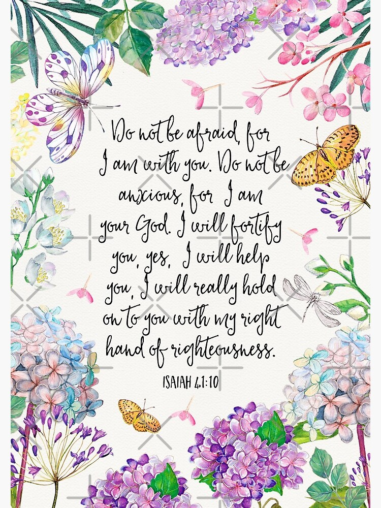 Isaiah 41:10 (Flowers and Butterflies) by JenielsonDesign