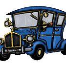 Vintage Car fun drawing by Vitaliy Gonikman