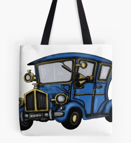 Vintage Car fun drawing Tote Bag