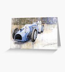 Bluebird 1933 Daytona Malkolm Campbell Greeting Card