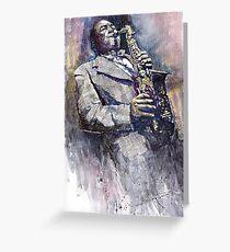 Jazz Saxophonist Charlie Parker Greeting Card